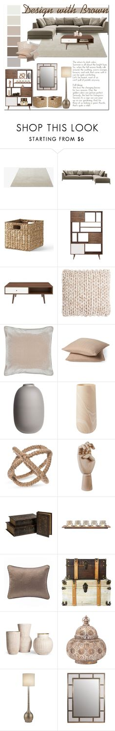 """""""Design with brown"""" by rachelbarkhodesigns ❤ liked on Polyvore featuring interior, interiors, interior design, home, home decor, interior decorating, &Tradition, B&B Italia, Lands' End and Moe's Home Collection"""