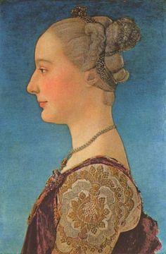 Portrait of a Lady, Antonio Pollaiuolo, 15th century Italian renaissance