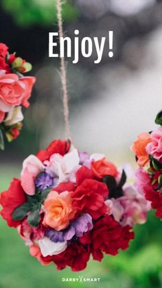 Make A Hanging Flower Chandelier