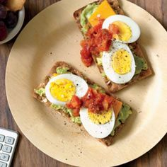 Avocado, Cheese & Egg Stacks + Grapes + Cookie - Healthy, Easy Midday Meal Plans - Fit Pregnancy