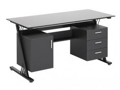 Bureau porte tiroir niches petit bureau