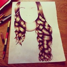 Drawing curly hair- example