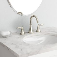Delta Olmsted Spotshield Brushed Nickel 2Handle Widespread Endearing Brushed Nickel Bathroom Faucets Design Ideas