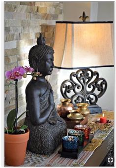 26 Perfect Images Buddha Themed Bedroom - Buddha Peaceful Corner Zen Home Decor Interior Styling – 26 Perfect Images Buddha Themed Bedroom - Buddha Home Decor, Zen Home Decor, Asian Home Decor, Home Decor Items, Meditation Corner, Meditation Rooms, Zen Meditation, Yoga Rooms, Sala Zen