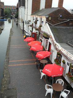 Canal Side pub and restaurant, Gas Street Basin, Birmingham, England