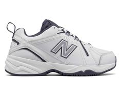 super popular b13e8 f0790 New Balance 608v4, White with Purple Casual Trainers, Classic Leather,  Training Shoes,