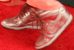 Katie Leclerc Wears Nike 'Dunk Sky Hi' Sneakers With Her Gown on the Red Carpet