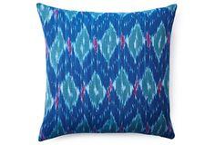 Cabo Ikat 20x20 Pillow, Blue
