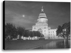 Texas Capitol by Rod Chase Photographic Print on Wrapped Canvas