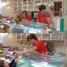 Harry Styles before One Direction... but what I want to know is if that was 'before One Direction'... who's randomly taking pics of Harry at the bakery before he was famous?