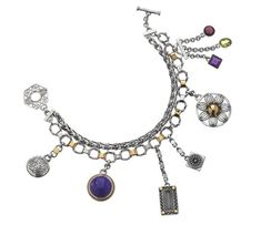 Azza Fahmy Fashion '12 Silver/Gold Charm Bracelet