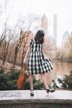 Eloise Dress - Black and White Gingham // Sustainable Brand Alternatives to ModCloth with Vintage Style and Classic Clothing Designs #sustainable #ethical #sustainablefashion #ethicalfashion #ecofriendly #fairtrade #fashion #vintagestyle