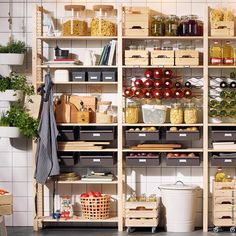 organisieren sie ihre speisekammer heute home kitchen pantry pantry shelving und small pantry. Black Bedroom Furniture Sets. Home Design Ideas