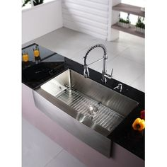 sink. farmhouse stainless steel