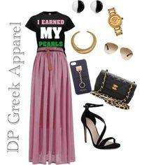 Dress up your DPGreekApparel Earned Pearls tee #followprettypearlsinc AKA 1908