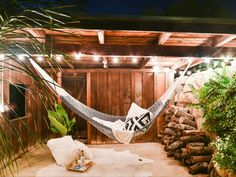 Rugged cotton rope hammock by Yellow Leaf, perfect for lazy summer days! $145 #hammock