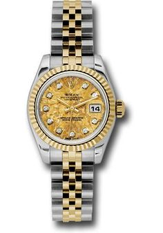 Rolex Oyster Perpetual Datejust Lady Steel and Gold Yellow Gold - Fluted Bezel - Jubilee Watch 179173 ygcdj