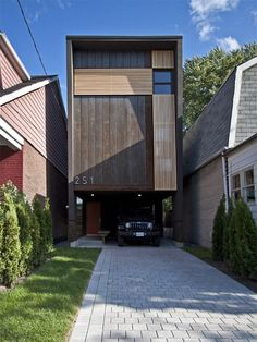 """""""Design belongs to everyone,"""" says Reza Aliabadi, the architect of this Canadian residence, named the Shaft House."""
