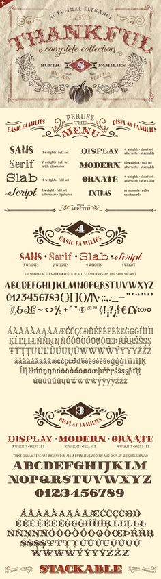 Thankful font family - dying to use this for some Thanksgiving themed art, StDs, and general autumn work