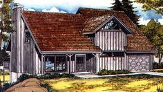 Country House Plan with 1312 Square Feet and 2 Bedrooms from Dream Home Source | House Plan Code DHSW73415