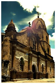 Guimbal Church or St. Nicolas of Tolentino Parish Church is located in Guimbal, Iloilo, Philippines, the yellow sandstone church is made from adobe stones called igang and coral stones quarried from Guimaras. Manila, Places Around The World, Around The Worlds, Wonderful Places, Beautiful Places, Places To Travel, Places To Visit, Iloilo City, Old Churches