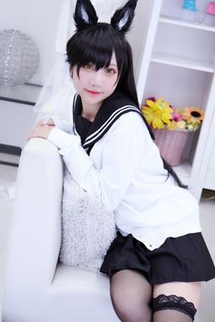 Cute Neko Girl, Kawaii Girl, Cool Girl, School Girl Japan, School Uniform Girls, Cute Cosplay, Cosplay Girls, Anime Cosplay, Korean Girl