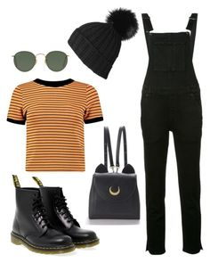 Fall look by dublin8 on Polyvore featuring polyvore, Mode, style, Boohoo, Ksubi, Dr. Martens, WithChic, Black, Ray-Ban, fashion and clothing