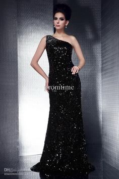 Wholesale Sequins Prom Dresses - Buy Shining Black Sequins Prom Dresses Stage Sheath Court Train Evening Dresses Evening Gowns ED300, $127.27 | DHgate