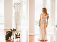 Boston terriers and white lace. That looks like my perfect combo!!    Vintage-Inspired Florida Ranch Wedding: Jenny + Jeff   Green Wedding Shoes Wedding Blog   Wedding Trends for Stylish + Creative Brides
