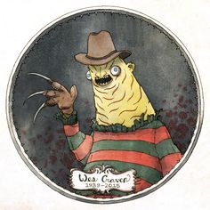 Here's a Yelomin Freddy Krueger tribute to Wes Craven. RIP Mr. Craven, your movies were awesome. I saw Nightmare on Elm Street as a young boy and it ignited in me a lifelong love for horror films. -Junkyard Sam