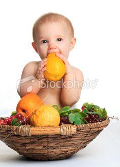 Baby fruit photo idea, orange