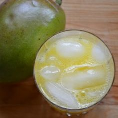 Refreshing lemonade from scratch, with mango to add a twist on a classic drink.