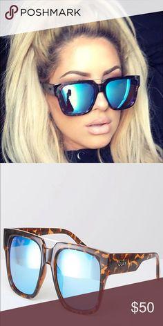 Quay Chrissspy Mila sunglasses blue lense Brand new! Quay Australia Accessories Sunglasses