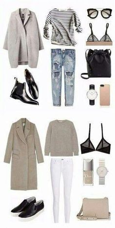 Essential Buying Guide for your Summer Minimalist Capsule Wardrobe Komplette Outfits, Winter Outfits, Casual Outfits, Fashion Outfits, Modest Fashion, Fashion Ideas, Fashion Tips, Minimalist Wardrobe, Minimalist Fashion