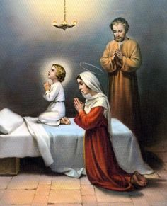 """""""Beautiful"""" The Holy Family Picture New Fine Art Color Print """"Jesus Christ"""". The images are sharp and vibrant in color with exceptional detail and tones. Catholic Prayers, Catholic Art, Catholic Saints, Religious Art, Roman Catholic, Image Jesus, Prayer For Family, Les Religions, Blessed Mother Mary"""