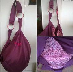 Un sac Swing suédine et doublure Liberty par Karine ! Patron de couture Sacôtin