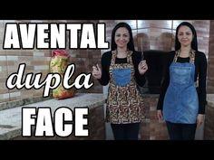 Como fazer avental dupla face com pernas de calça jeans - Costura para iniciantes - Especial #20 - YouTube