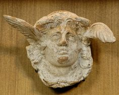 Applique gorgoneion Louvre Cp4976. Gorgoneion, vase applique from Canosa di Puglia. Date between circa 310 and circa 290 BC