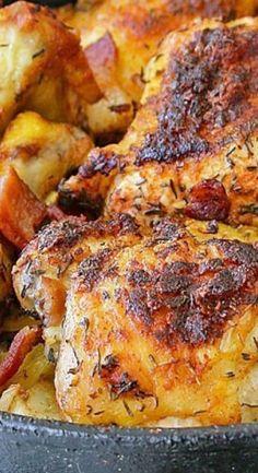 Irish Chicken with Cabbage, Potatoes, and Bacon patricks day dinner recipes irish meals Irish Chicken - Recipes Food and Cooking Turkey Recipes, Chicken Recipes, Frango Chicken, Cabbage And Potatoes, Meals With Cabbage, Red Cabbage, Mashed Potatoes, Simply Yummy, Scottish Recipes