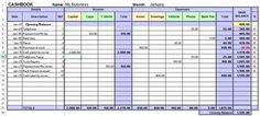 Free excel cash book template for easy bookkeeping to track business income and expenses every month and view reports. Includes examples and a control page to enter account headings. Small Business Bookkeeping, Small Business Accounting, Accounting Major, Accounting Basics, Dashboard Design, Business Planning, Business Tips, Business Sales, Business Coaching