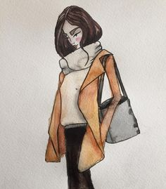 Afternoon #watercolor #doodle  #byHrefna