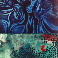 Two paintings I've been working on. I like them together. #morepatterns