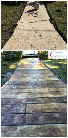 Concrete Wood Sidewalk Resurfacing Raleigh NC
