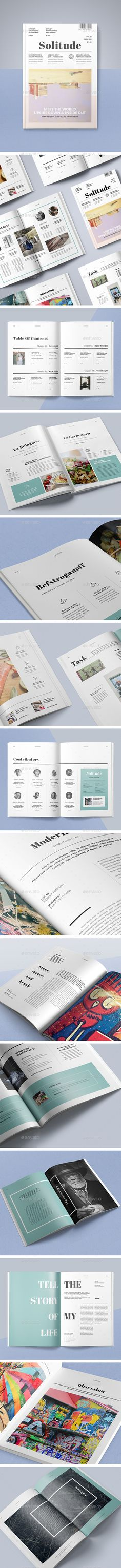 50 Pages Minimal Magazine Template InDesign INDD. Download here: https://graphicriver.net/item/50-pages-minimal-magazine/17472492?ref=ksioks