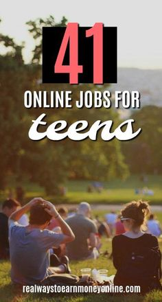 41 online jobs for teens. work from home, work at home Online Jobs For Teens, Best Online Jobs, Online Jobs From Home, Home Based Business, Online Business, Business Ideas, Business Opportunities, Making Money Teens, Legitimate Work From Home