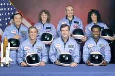 28 years ago, The space shuttle Challenger STS-51L disaster, the crew. RIP
