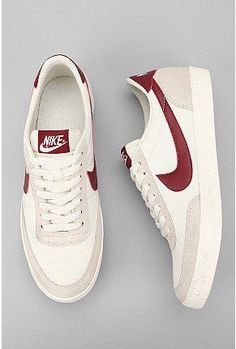 I would love to do a white outfit with accents of this red wine color, and these shoes. Nike classics are always enjoyable and stylish.