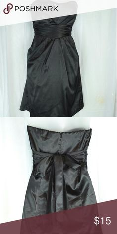 Little black dress Black strapless satin cocktail dress Teeze Me Dresses Strapless