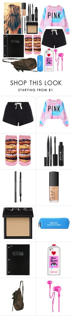 """""""The 100 and Grey's Anatomy tonight!! Can't wait!"""" by me-is-a-pizza ❤ liked on Polyvore featuring New Look, Chicnova Fashion, Stila, Burberry, NARS Cosmetics, Happy Jackson, Mead, Valfré and Merkury Innovations"""