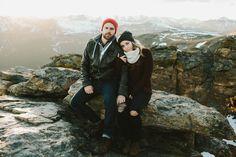 rocky mountain engagement photos